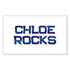 chloe rocks Rectangle Decal
