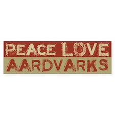 Peace Love Aardvarks Bumper Bumper Sticker