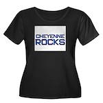 cheyenne rocks Women's Plus Size Scoop Neck Dark T