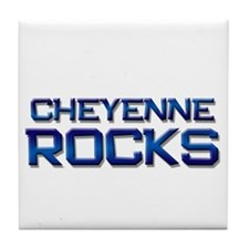 cheyenne rocks Tile Coaster