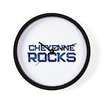 cheyenne rocks Wall Clock