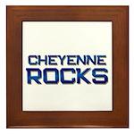 cheyenne rocks Framed Tile