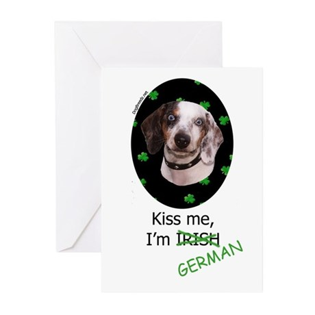 Kiss me Dachshund Greeting Cards (Pk of 10)