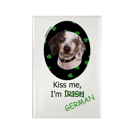 Kiss me Dachshund Rectangle Magnet (100 pack)