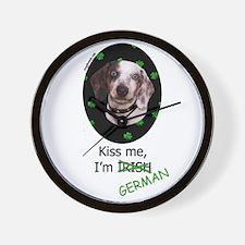 Kiss me Dachshund Wall Clock