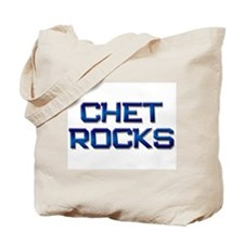 chet rocks Tote Bag