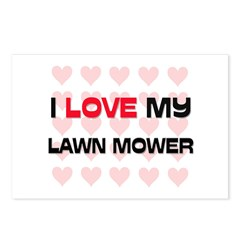 I Love My Lawn Mower Postcards (Package of 8)