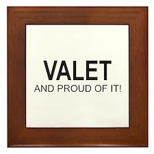 Proud Valet Framed Tile