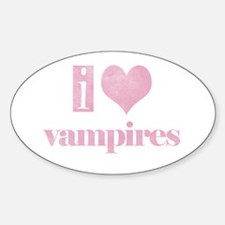 i heart vampires Oval Decal