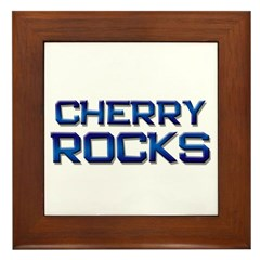 cherry rocks Framed Tile