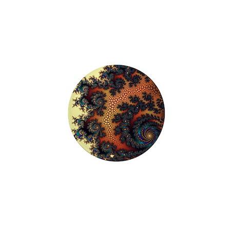 Terracotta Vision Fractal Mini Button