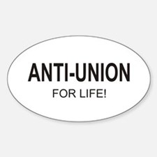 Anti-Union Oval Decal