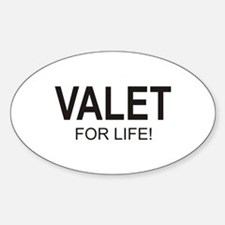 Valet For Life Oval Sticker (10 pk)