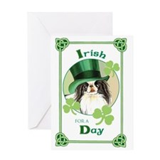 St. Patrick Japanese Chin Greeting Card