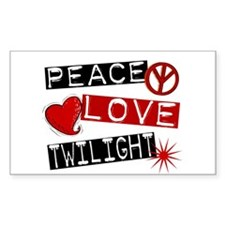 Peace Love Twilight L1 Rectangle Decal
