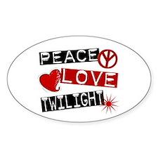 Peace Love Twilight L1 Oval Decal