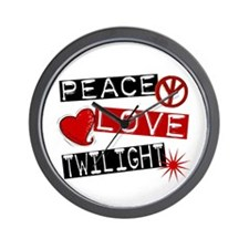 Peace Love Twilight L1 Wall Clock
