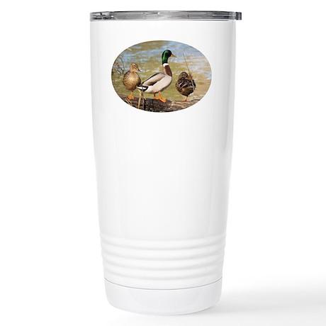 Mallard Ducks Stainless Steel Travel Mug