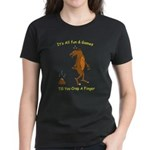 crap a finger Women's Dark T-Shirt