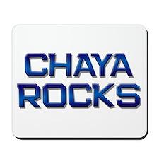 chaya rocks Mousepad
