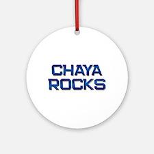 chaya rocks Ornament (Round)