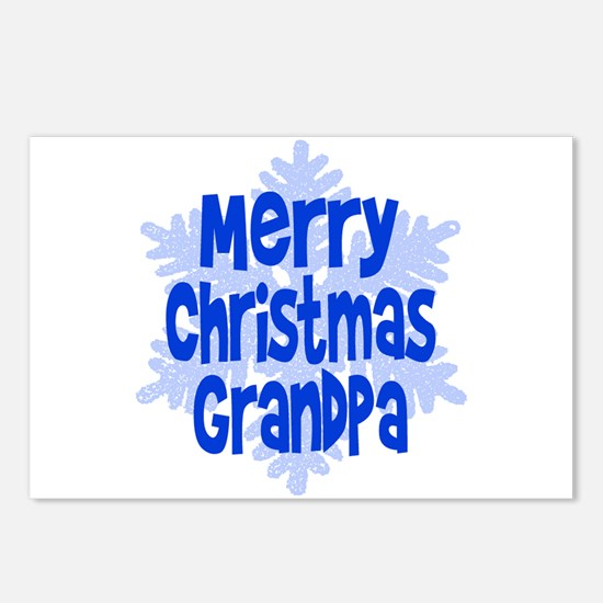 Merry Christmas Grandpa! Postcards (Package of 8)