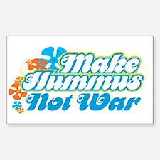 Make Hummus Not War Rectangle Decal