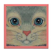 Fuzzy Face Tile Coaster