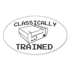 Classically Trained Oval Decal