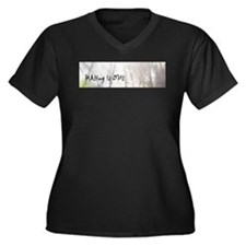 Hating is Out Women's Plus Size V-Neck Dark T-Shir