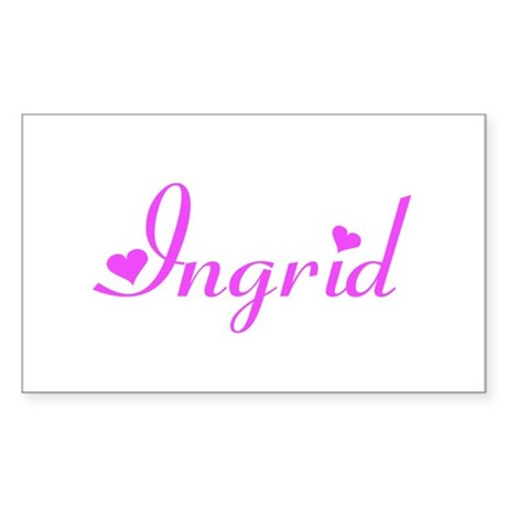 Ingrid Rectangle Sticker