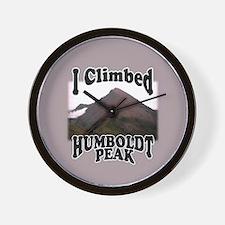 I Climbed Humboldt Peak Wall Clock