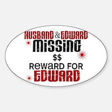 Husband & Edward Missing TWILIGHT Oval Decal