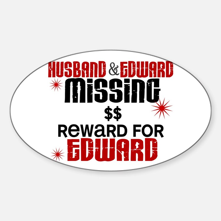Husband & Edward Missing TWILIGHT Oval Decal