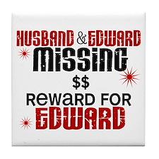 Husband & Edward Missing TWILIGHT Tile Coaster