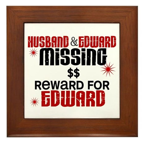 Husband & Edward Missing TWILIGHT Framed Tile