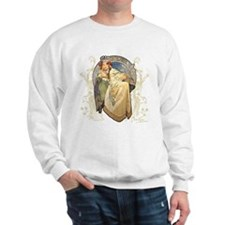 Alphonse Mucha Hyacinth Sweatshirt