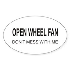 Open Wheel Fan Oval Decal