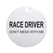 Race Driver Ornament (Round)
