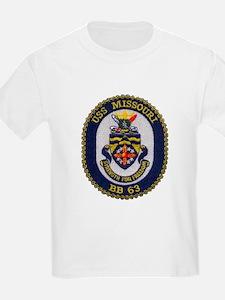 USS MISSOURI Kids T-Shirt