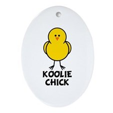 Koolie Chick Oval Ornament