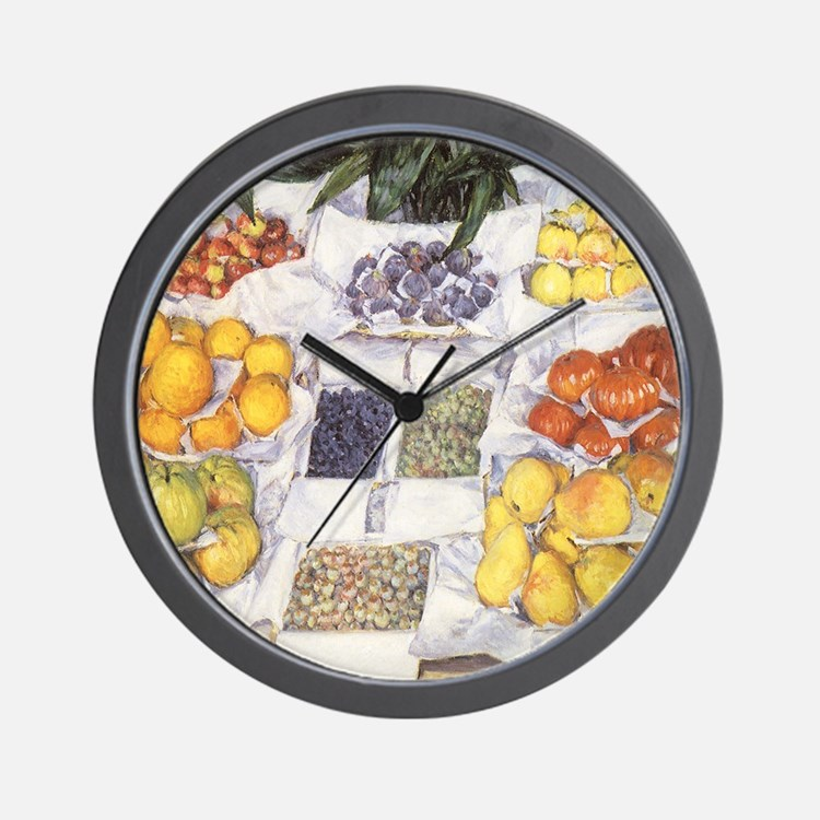 Fruit Stand by Caillebotte Wall Clock