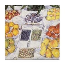 Fruit Stand by Caillebotte Tile Coaster