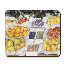 Fruit Stand by Caillebotte Mousepad