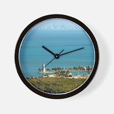 Boca Chita Key and The Miami Skyline Wall Clock