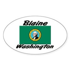 Blaine Washington Oval Decal