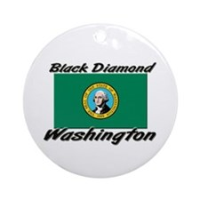 Black Diamond Washington Ornament (Round)