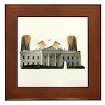 Teabag The White House Framed Tile