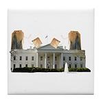 Teabag The White House Tile Coaster