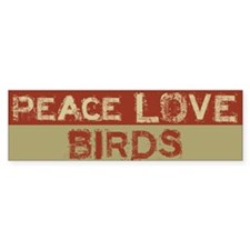 Peace Love Birds Bumper Car Sticker